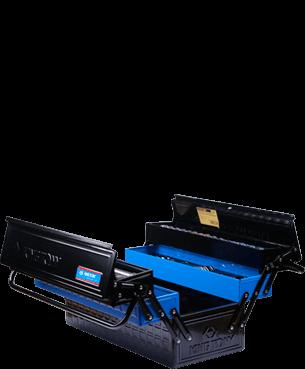 Imagem do prêmio 3º lugar Feras do ano: caixa de ferramentas metálica sanfonadaequipada