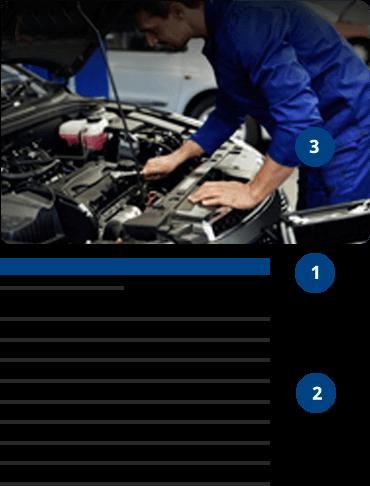 Imagem de mecânico mexendo no motor de um carro e passo a passo para enviar dica